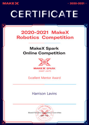 SMART LIGHTS--Excellent Mentor Award--Harrison Lavins----2020.10.30-----1