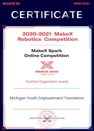 SMART LIGHTS--Excellent Organization Award--Michigan Youth Empowerment Foundation----2020.10.30-----1