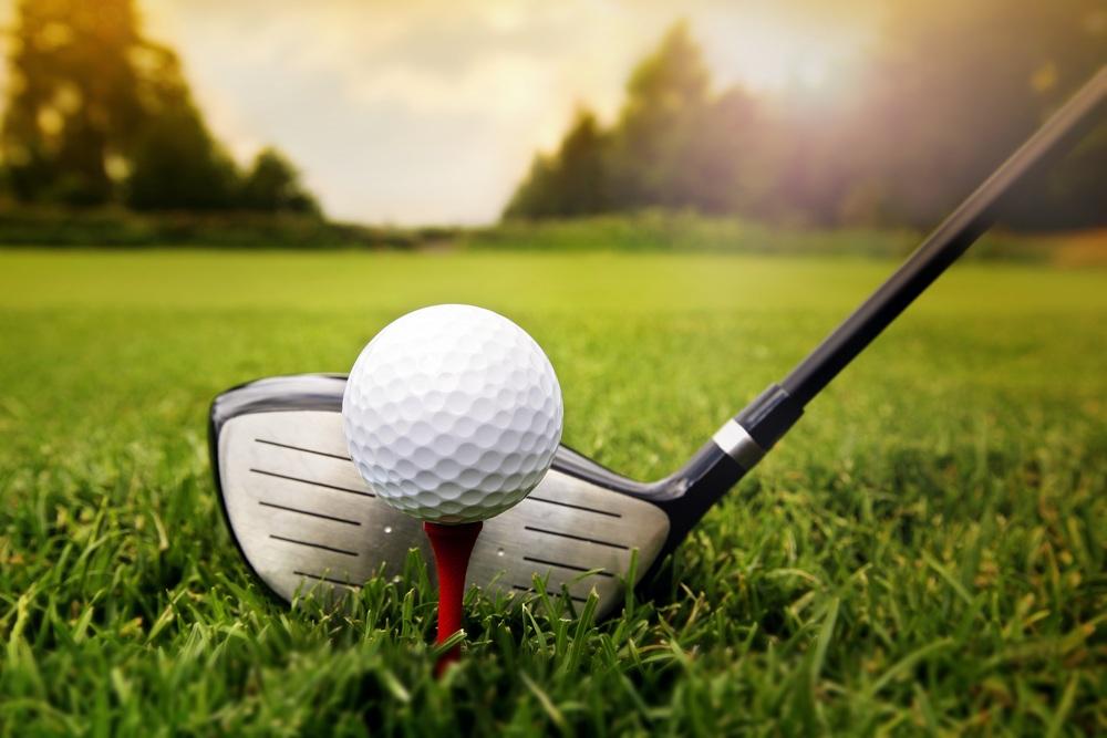 Golf-club-ball-on-the-grass-field